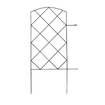 Large Lattice 28 in. Steel Garden Folding Fence