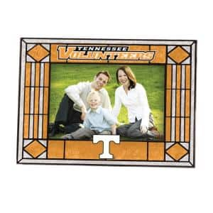 NCAA 4 in. x 6 in. Gloss Multicolor Art Glass Tennessee Picture Frame