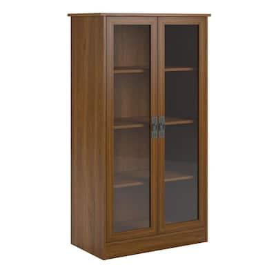Lockwood 53.06 in. Inspire Cherry Wood 4-shelf Standard Bookcase with Adjustable Shelves