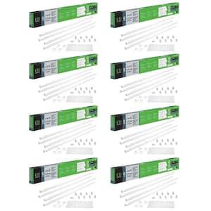 48-Watt 4 ft. Linear LED Tube Light Bulb Retrofit Conversion Kit Replaces 8 ft. T8 T12 Fluorescent 7200 Lumens (8-Pack)