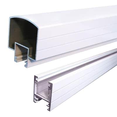 6 ft. White Aluminum Hand and Base Rail