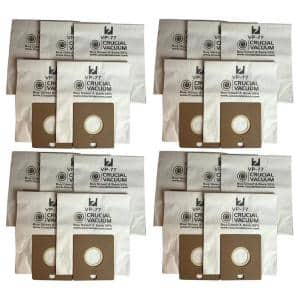 20pk Replacement VP-77 Vacuum Bags, Fits Bissell DigiPro, Propartner 203-2026, 32023 and 32115
