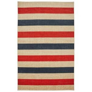 Sailor Stripe Navy 8 ft. x 10 ft. Indoor Area Rug