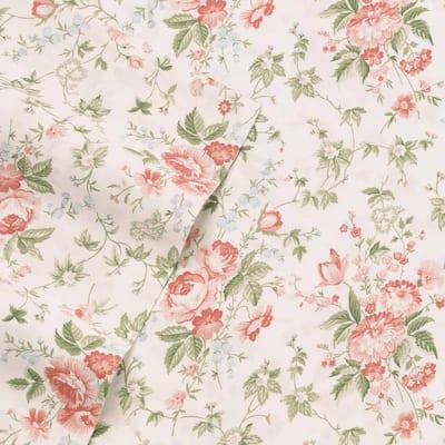 Laura Ashley Floral 300-Thread Count Sateen Sheet Set
