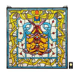 Bedford Manor Stained Glass Window Panel