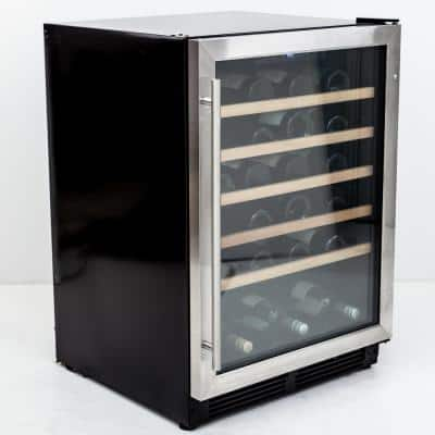 24 in. Width 51-Bottle Wine and 0-Can Beverage Cooler
