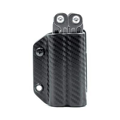 Kydex Multi-Tool Sheath - Leatherman Wingman/Sidekick - Multi-Tool, Sheath Holder Holster (Carbon Fiber Black)
