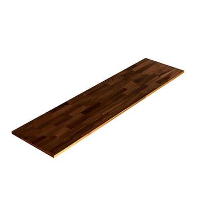 3/4 in. x 16 in. x 5 ft., Square Edge, Espresso, Acacia Select Appearance Board