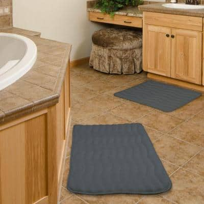 2-Piece Platinum Memory Foam Bath Mat Set