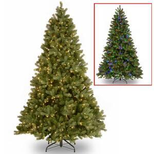 7.5 ft. Downswept Douglas Fir Artificial Christmas Tree with Dual Color LED Lights