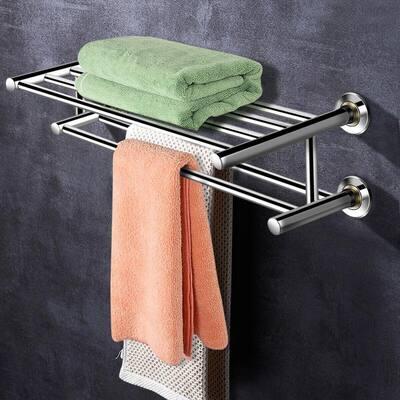 Wall Mounted Stainless Steel Storage Towel Rack