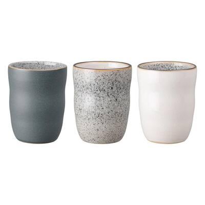 3-Piece 9.29 oz. Studio Grey Handleless Coffee Mug Set