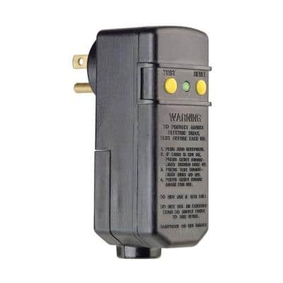 15 Amp Compact Right Angle Plug-In GFCI, Black
