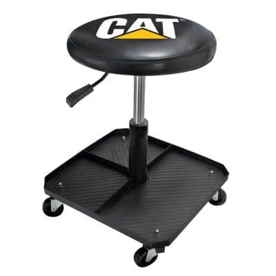 CAT Adjustable Pneumatic Shop Creeper Seat with Stool