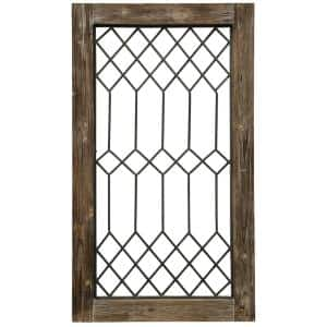 Wood-Framed Metal Grate 1 Wall Decor