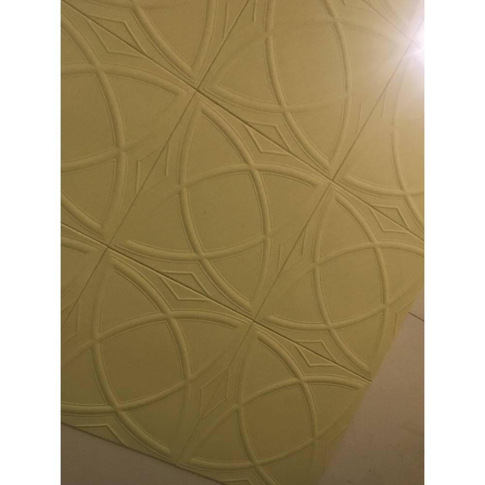 A La Maison Ceilings Elliptic Illusion 1 6 Ft X 1 6 Ft Glue Up Foam Ceiling Tile In Plain White 21 6 Sq Ft Case R13pw 8 The Home Depot