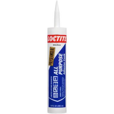 Polyseamseal 10 fl. oz. White All-Purpose Adhesive Caulk (12-Pack)