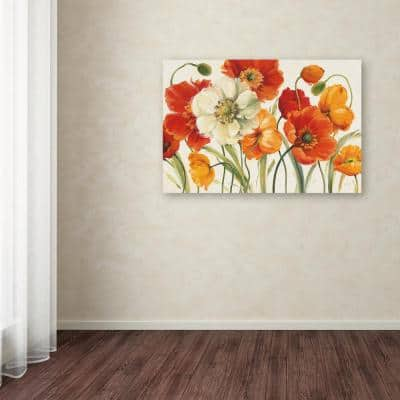 """22 in. x 32 in. """"Poppies Melody I"""" by Lisa Audit Printed Canvas Wall Art"""