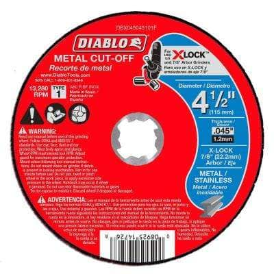 4-1/2 in. Thin Kerf Metal Cut-Off Disc for X-Lock and All Grinders (Buy 3 Get 2 Free) (5-Pack)
