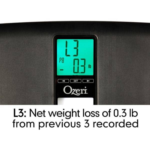 Ozeri WeightMaster II 200 kg Digital Bathroom Scale with BMI and Weight Change D