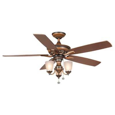 Havenville 52 in. Indoor Berre Walnut Ceiling Fan with Light Kit
