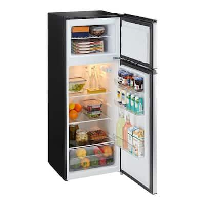 7.1 cu. ft. Top Freezer Refrigerator in Stainless Steel Look