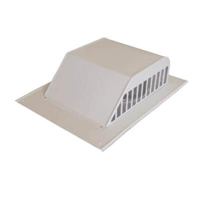 60 sq. in. NFA Aluminum Slant Back Roof Louver Static Vent in White (Carton of 6)