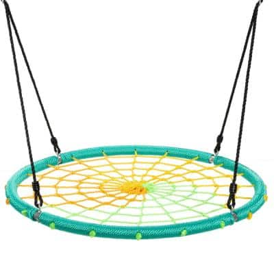 Spider Web Green Tree Swing with Chain