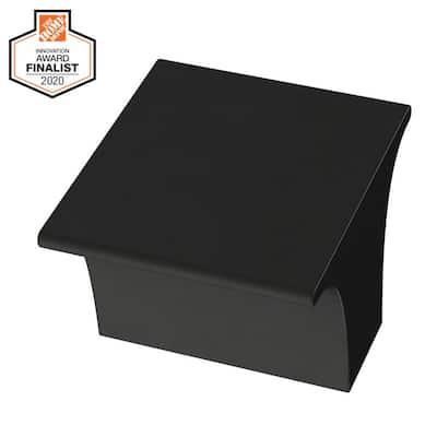 Inclination 1-1/8 in. (28 mm) Matte Black Cabinet Knob
