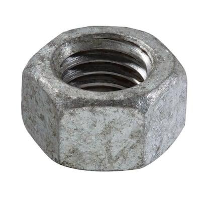 1/4 in.-20 Galvanized Hex Nut (25-Pack)