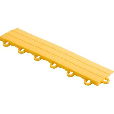 2.75 in. x 12 in. Citrus Yellow Looped Polypropylene Ramp Edging for Diamondtrax Home Modular Flooring (10-Pack)