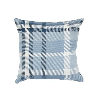 Tartan Midnight Square Outdoor Accent Throw Pillow