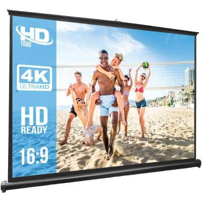 50 in. Retractable Pull-out-Style Manual Projector Screen