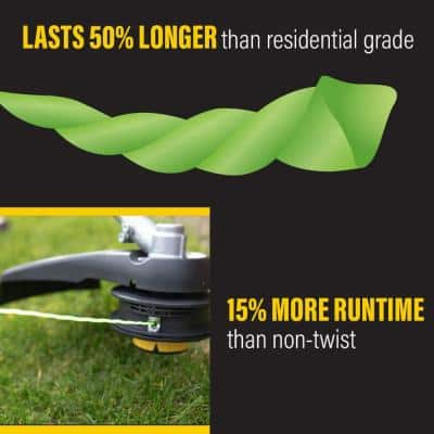 Universal Fit .095 in. x 250 ft. Pro Twisted Line for Gas and Select Cordless String Grass Trimmer/Lawn Edger