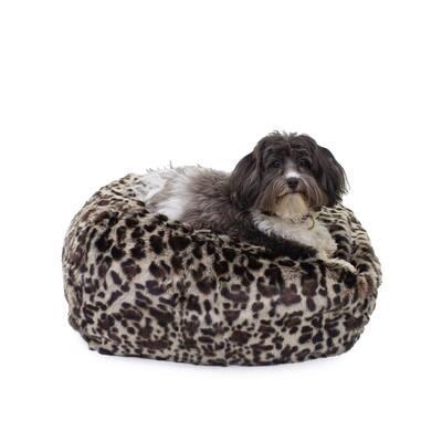 Medium Leopard Faux Fur Puff Ball