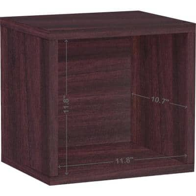 12.6 in. H x 13.4 in. W x 11.2 in. D Dark Brown Recycled Materials 1-Cube Organizer