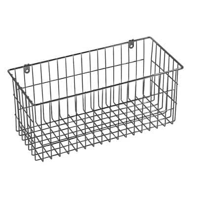6 in. H x 13.5 in. W Chrome Alloy 1-Drawer Wide Mesh Wire Basket