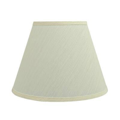 13 in. x 9.5 in. Eggshell Hardback Empire Lamp Shade