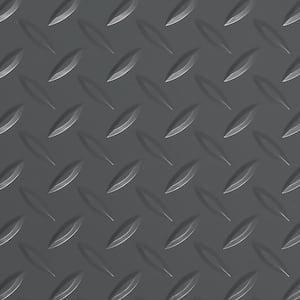 Diamond Tread 5 ft. x 10 ft. Slate Grey Commercial Grade Vinyl Garage Flooring Cover and Protector