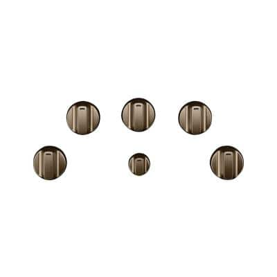 Electric Cooktop Knob Kit in Brushed Bronze