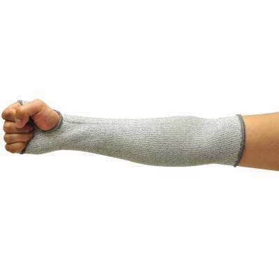 Cut Shield 14 in. Long Sleeve with Thumb Hole (6-Piece), Arm Width 4 in. -8 in. Grey, Large