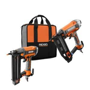 Pneumatic 18-Gauge 2-1/8 in. Brad Nailer with CLEAN DRIVE Technology with Straight Finish Nailer