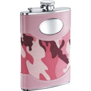 GI Jane Pink Camouflage Liquor Flask