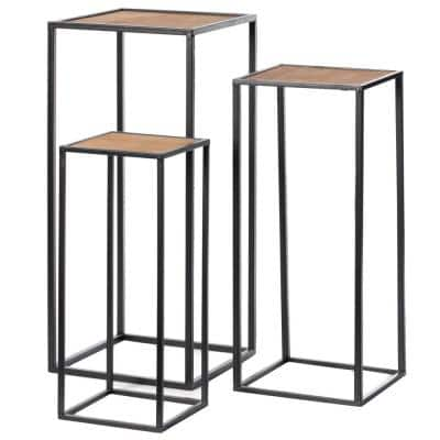 Modern Nesting Display Tables Square Accent Side End Table ,Set of 3
