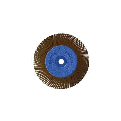 Sunburst - 6 in. TA Radial Discs - 1/2 in. Arbor - Thermoplastic Cleaning and Polishing Tool, U-Coarse 36-Grit (1-Pack)