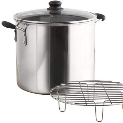 Mexicana 8 qt. Aluminum Stovetop Steamer with Glass Lid