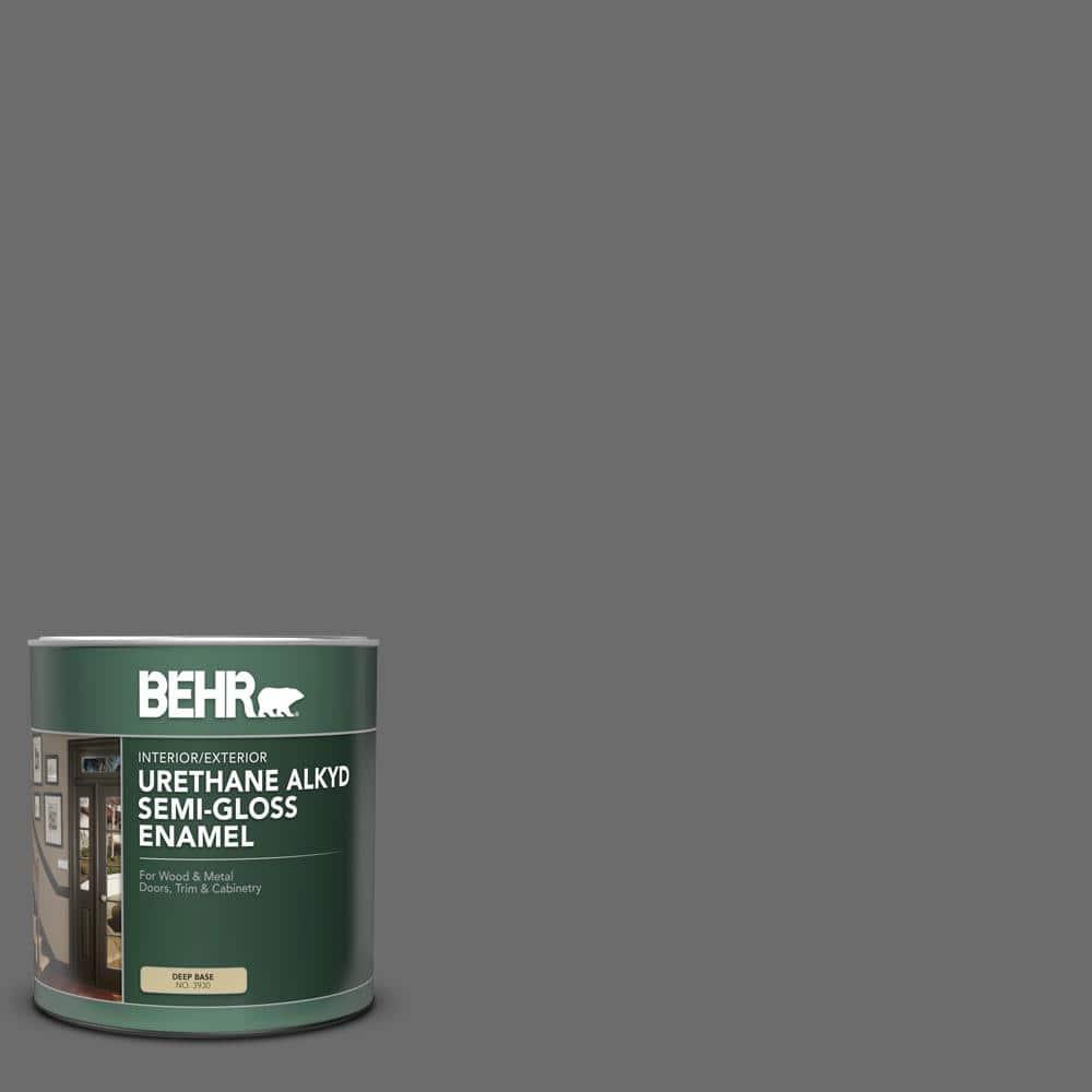 Behr 1 Qt 780f 6 Dark Granite Semi Gloss Enamel Urethane Alkyd Interior Exterior Paint 393004 The Home Depot