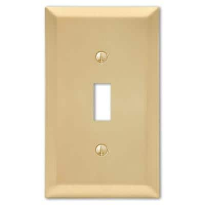 Metallic 1 Gang Toggle Steel Wall Plate - Satin Brass