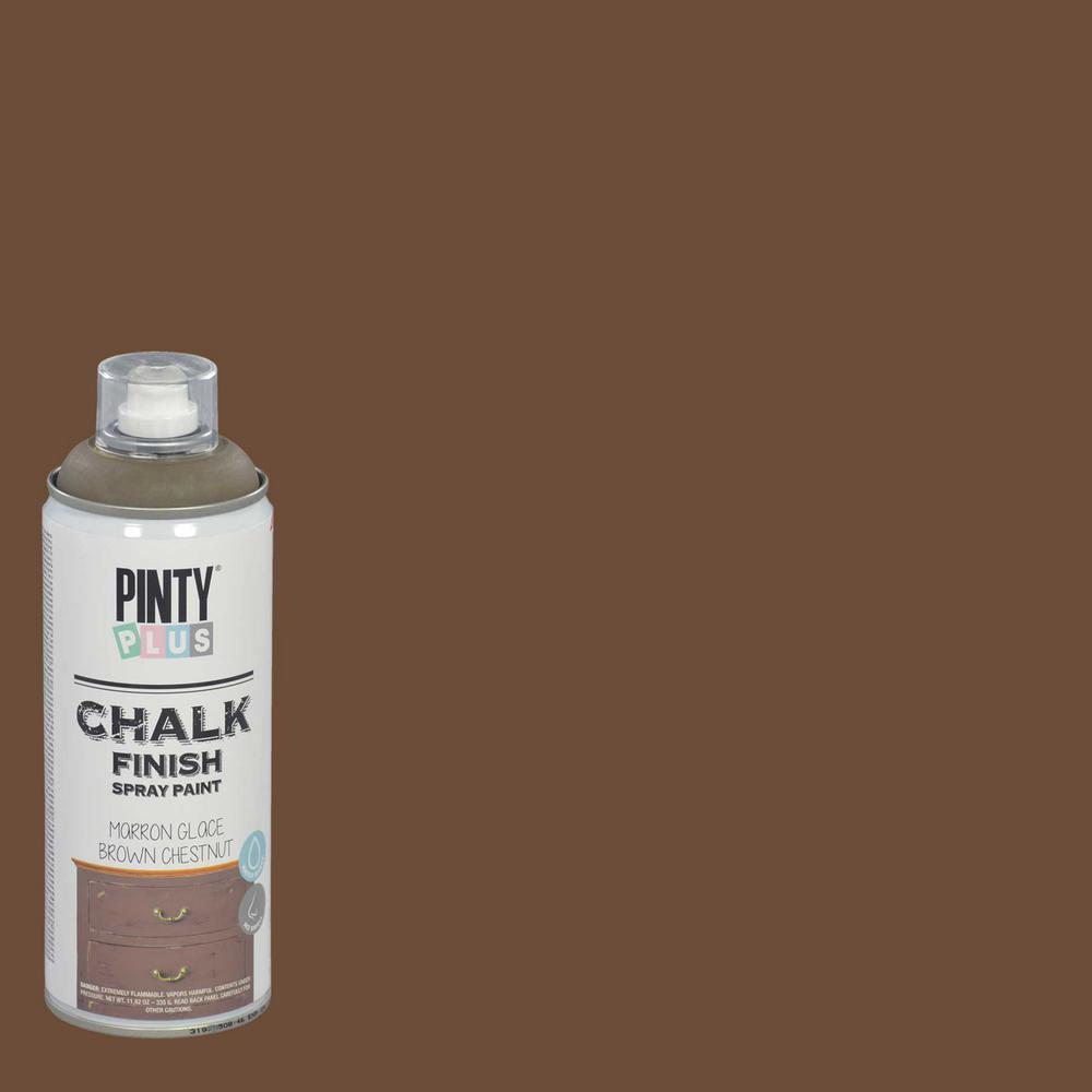 11.82 oz. Chestnut Brown Chalk Finish Spray Paint