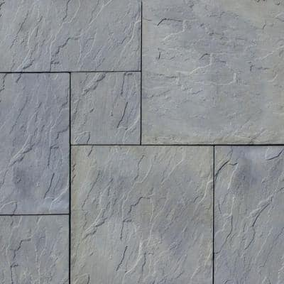 Patio-on-a-Pallet 120 in. x 120 in. x 1.5 in. Gray Variegated Dutch York-Stone Concrete Paver (Pallet of 44-Pieces)